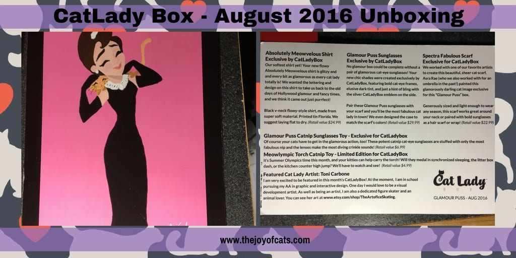 CatLady Box - August 2016 Unboxing