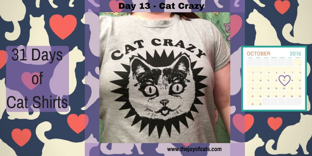 31 Days of Cat Shirts - Day 13 - Cat Crazy
