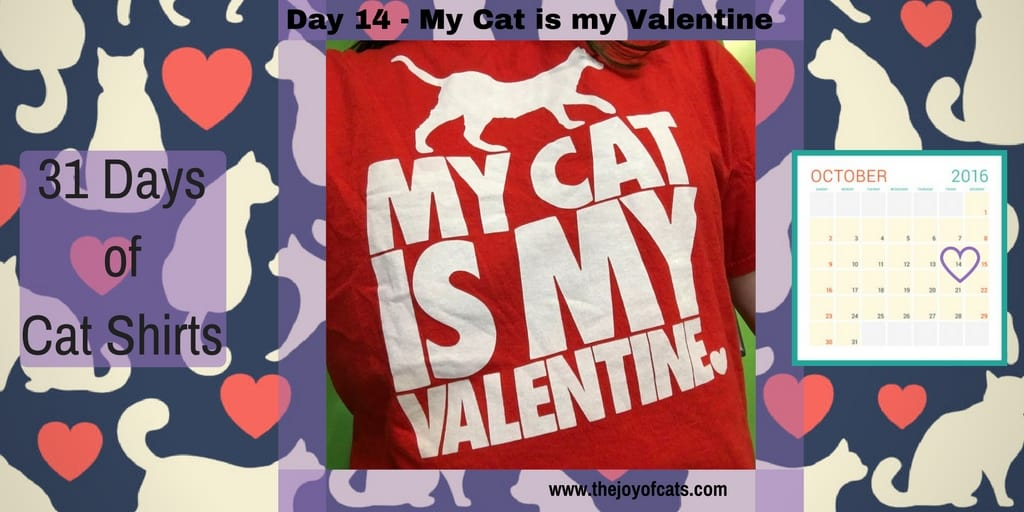 31 Days of Cat Shirts - Day 14 - My Cat is my Valentine