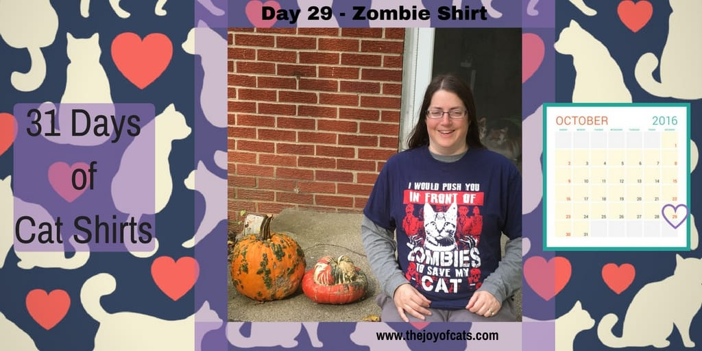 31 Days of Cat Shirts - Day 29 - Zombie Shirt