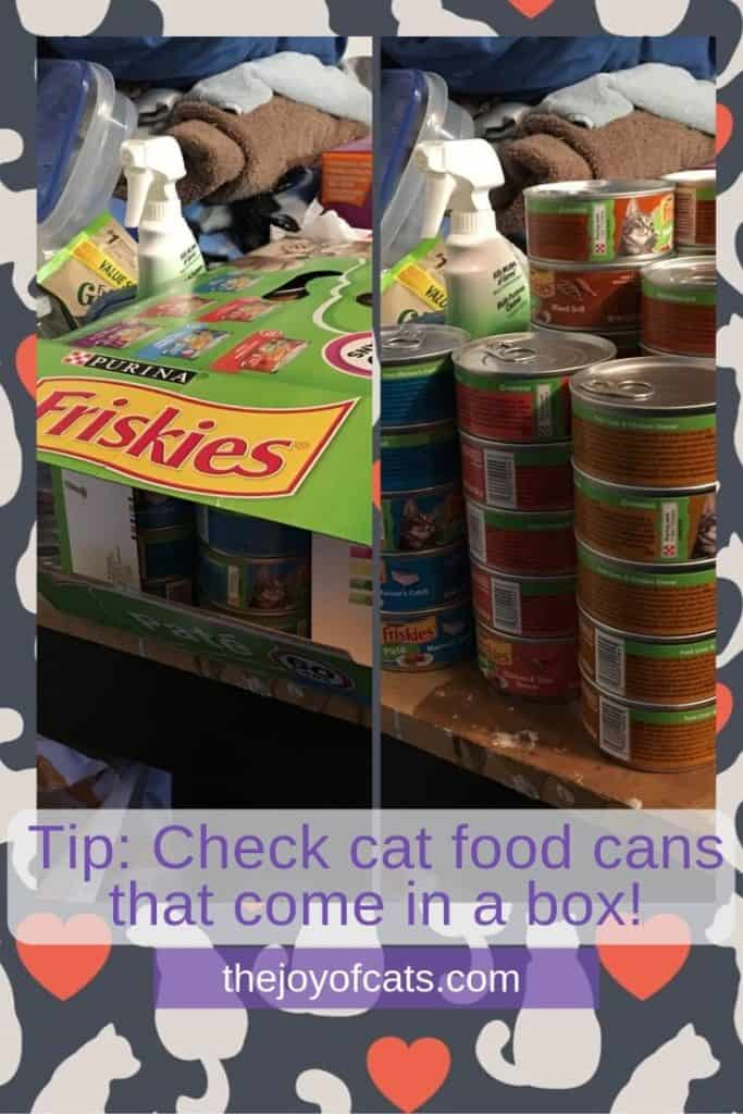 Tip: Check cat food cans that come in a box! - Pinterest
