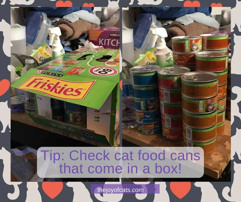 Tip: Check cat food cans that come in a box! cover photo